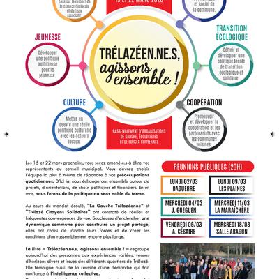 TRÉLAZÉEN.NE.S AGISSONS ENSEMBLE / ELECTIONS MUNICIPALES 15/03/2020