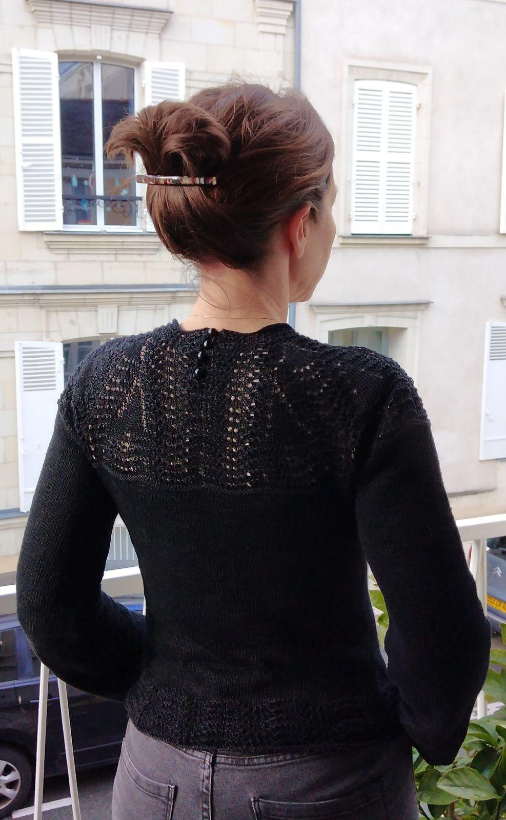 Modèle tricot gratuit pull femme ajouré dentelle