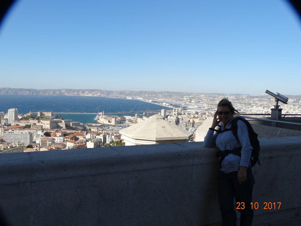 l'ascension de la colline de Notre-Dame de La Garde,