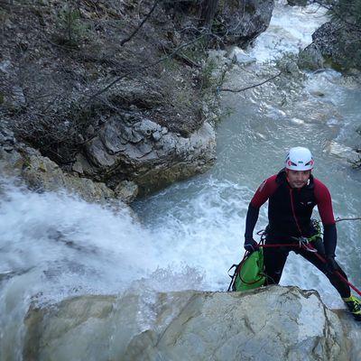 Mad-max épisode 3 : la cerise sur le gateau (ouverture du canyon de la Sasse, Haut-Verdon )