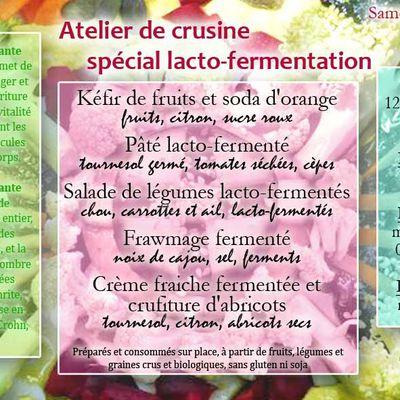 Atelier de crusine spécial Lacto-Fermentation le 12 juin 2021
