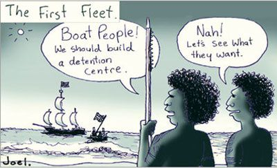 Here are the cartoons we studied over our first session on Australia.