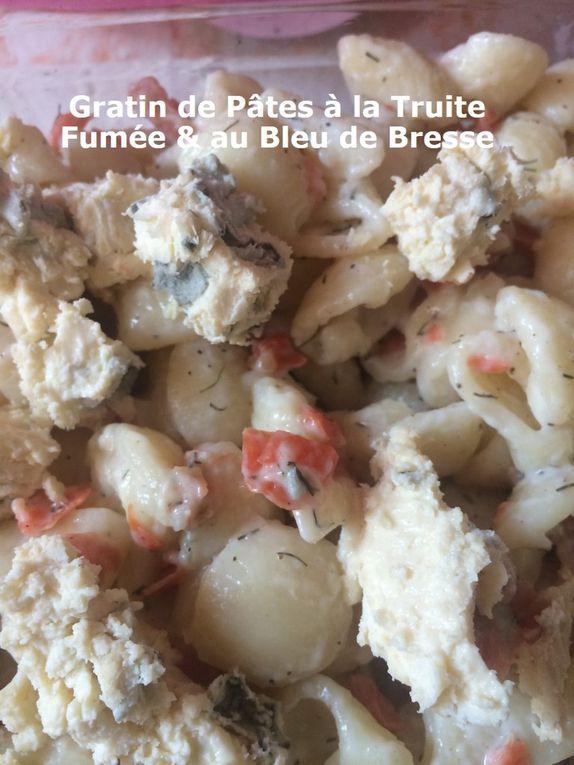 Gratin de Pâtes à la Truite Fumée & au Bleu de Bresse