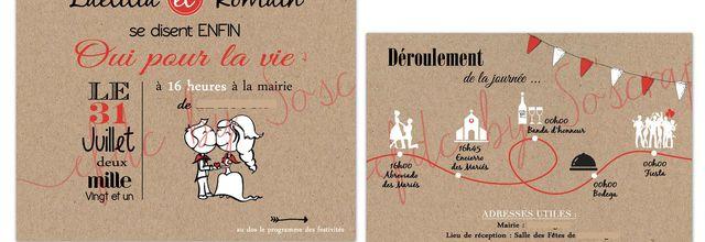 Le faire part de mariage Laetitia & Romain ... thème féria basque