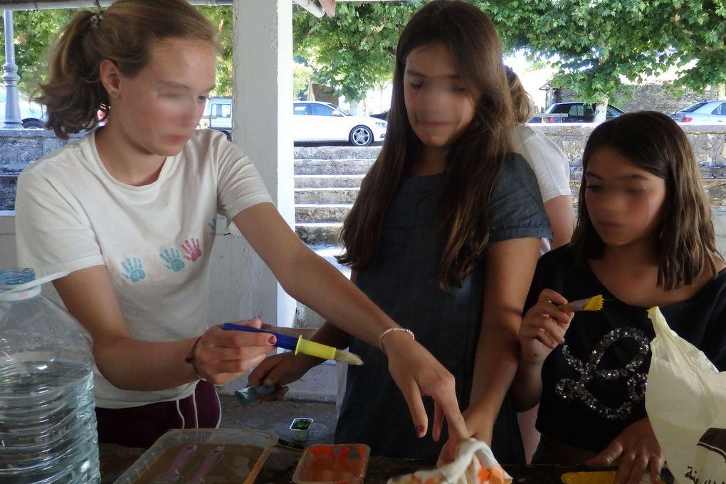 de 7 à 14 ans les enfants de Sarria à Triacastela finiront leurs travaux le 14 aout