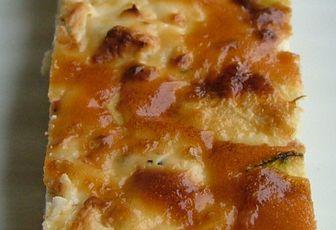 Tarte improvisée à la courgette, pesto & feta