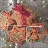 Biscuits Etoiles de noël au pralin et épices de noël (au companion ou autre robot) - Les recettes de sandrine au companion ou pas