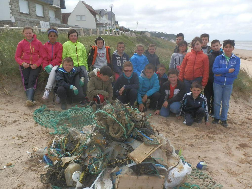 Nous avons ramassé plusieurs kilogrammes de déchets