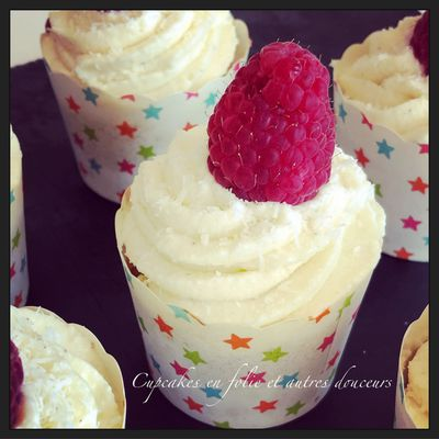 Cupcakes Coco/Framboise