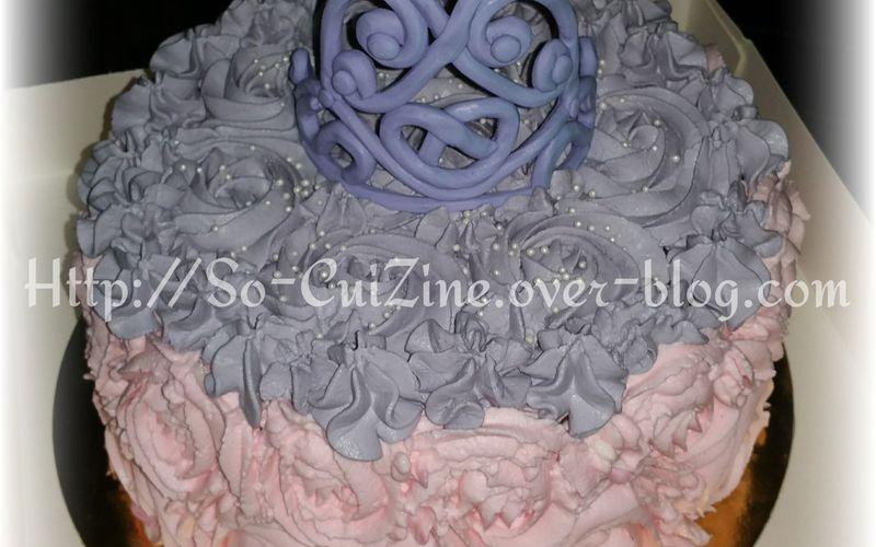 Crowned Rose Cake