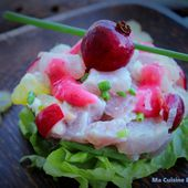 Tartare de Thon aux Goyaviers et Caramboles - Ma Cuisine Bleu Combava