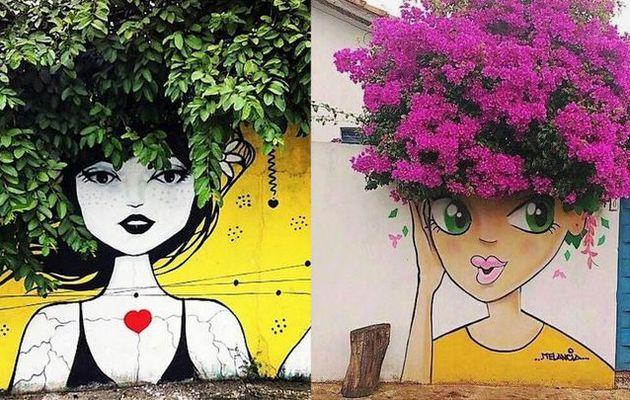 Art mural, de jolies fresques végétalisées
