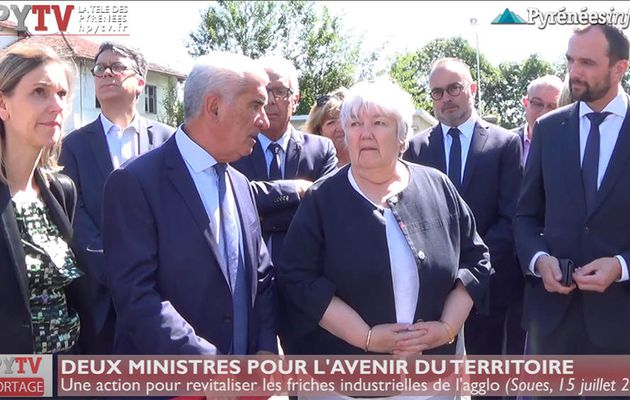 Deux ministres pour une friche industrielle (15 juillet 19) | HPyTv La Télé des Pyrénées