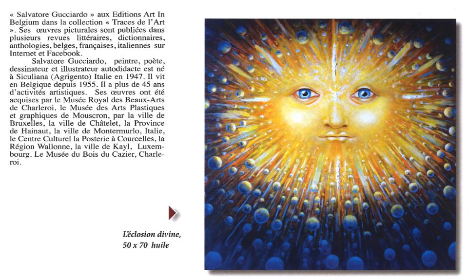"""La revue italienne  """"Liburni Arte et Cultura"""" a consacré deux pages dans son n° 52 à l'oeuvre de Salvatore Gucciardo"""