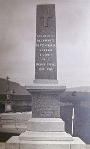 1914 - 1918  Veymerange/Elange  Morts aux combats