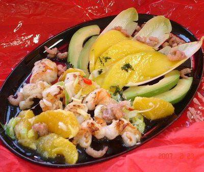 Salade de scampis a la mangue ( light )