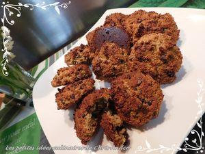 Cookies amande et pépites de chocolat