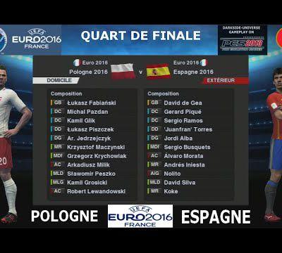 EURO 2016-Quart:POLOGNE-ESPAGNE