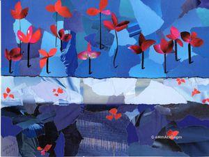 """Carterie : série de 6 visuels de la collection """"Humanité"""". """"Les sentinelles"""", """"Les gardiennes"""", """"Le concert"""", """"De l'air !"""", """"Bonhomme de neige"""" et """"Espérance"""". Le copyright n'est pas présent sur la carte."""