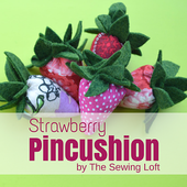 Strawberry Pincushion | Scrap Buster - The Sewing Loft