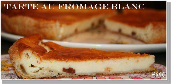 Tarte au fromage blanc et raisins secs