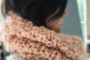 Tricot : snood facile en point de blé
