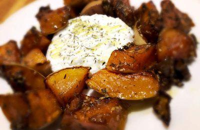Butternut au four sésame et crèmes balsamique