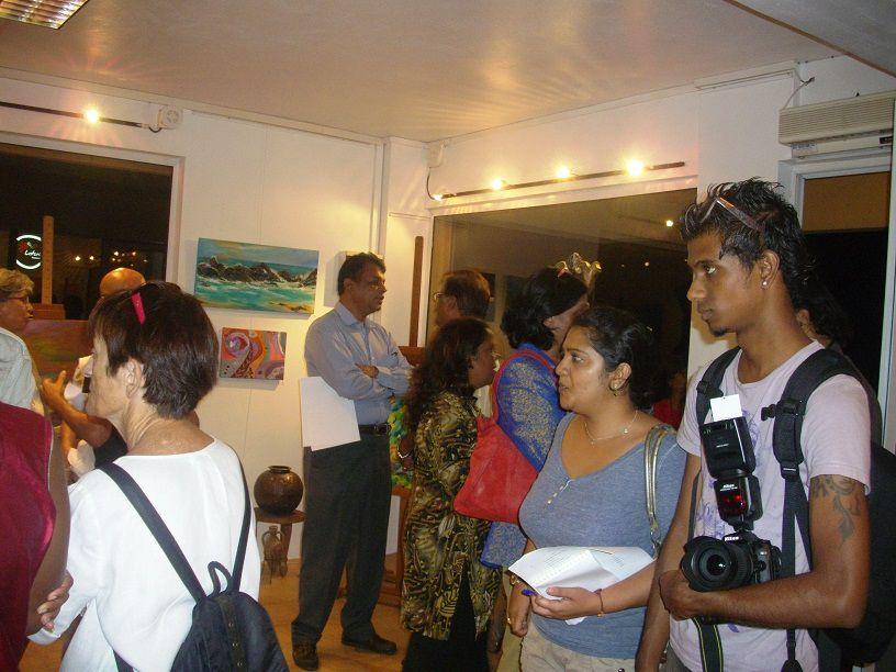 Vernissage de l'Exposition à la Galerie d'Amrita Dyalah à G-Baie. Expo du 07-13 Avril 2012!!!
