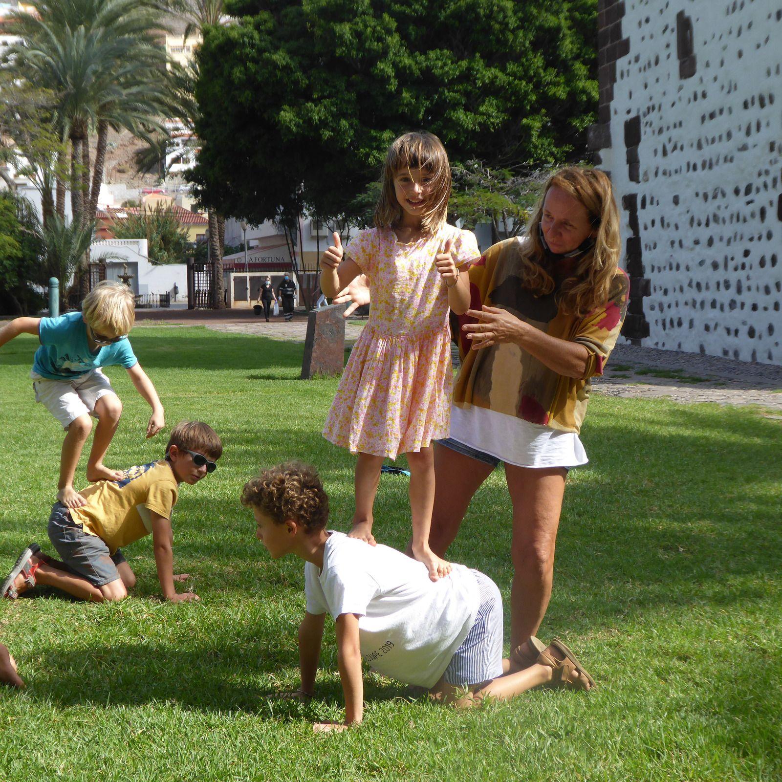 Journée de cirque des Colibris avec Michelle et Manu à la Gomera