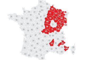 Découvrez la carte des 20 départements