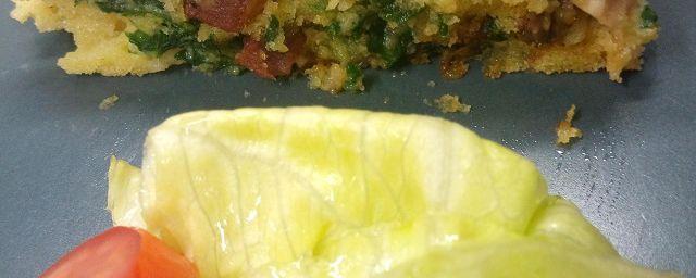 """Tortino di pollo con champignon e pancetta lievitato con lievito secco bio """"Colombo"""""""