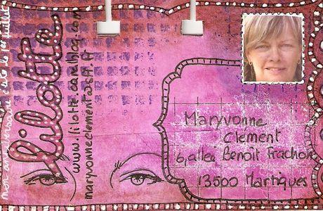 Une nouvelle carte ROLODEX de la part de LILOTTE