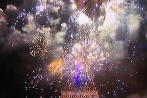 Trop belle notre #toureiffel ❤️💙  So #proud #paris #14juillet #fire #fireworks #love #family #friends #trocadero  (à Tour Eiffel)