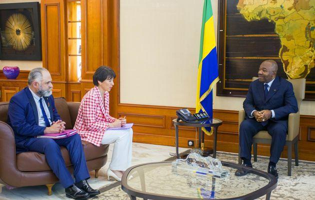 Le Président Ali Bongo Ondimba reçoit le PDG du Groupe ERAMET Christel Bories