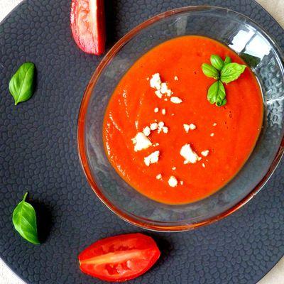 Soupe aux tomates rôties