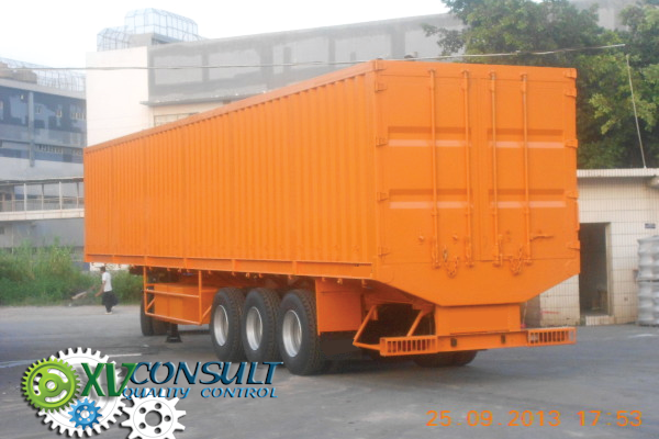 1/ Fabrication-Controle Qualite-Semi Remorques Fourgons porte-containers 20 / 40 - (26 unites)Export Afrique Chine