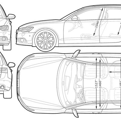 Blueprint of Audi A6 Avant 2012
