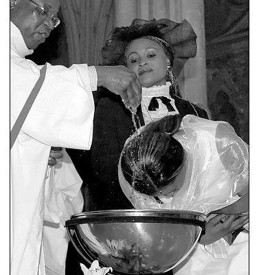 Baptême de Solange et de ses fils