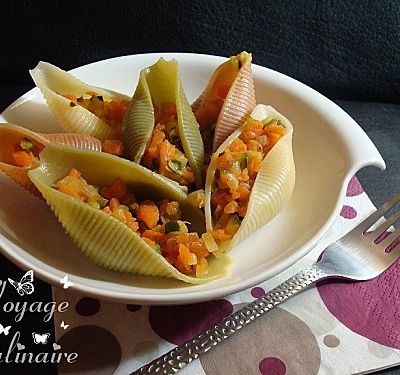 Conchiglies aux légumes et à l'orange