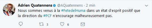 La @FranceInsoumise présente en nombre à l'allocution de @plaurent_pcf à la #FetedeLhuma !