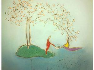 Histoire une -Lettre de la petite sonneuse et tombeuse de fleurs -; Histoire deux - Lettre de la visite du      cerisier -; Histoire trois - Lettre des quatre dames à Guillaume, dans le jardin du Térrié -; Histoire quatre - l'Etonnant voyageur et le lien dans le foulard -;  Histoire cinq - correspondance de la couleur jaune et des deux pétales -     -