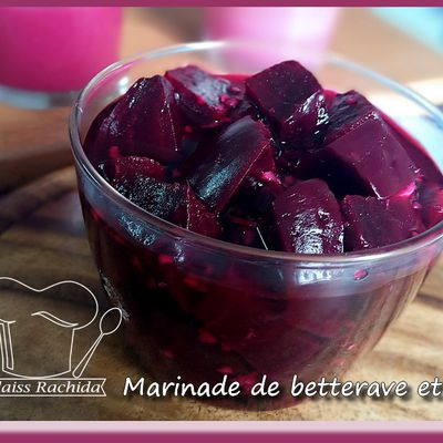 Marinade de betterave et sauce betterave