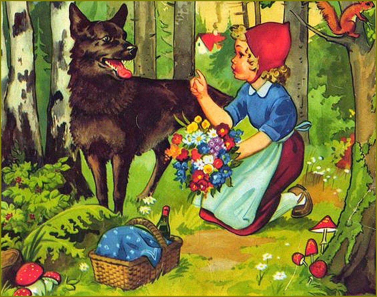 Le petit chaperon rouge en illustration