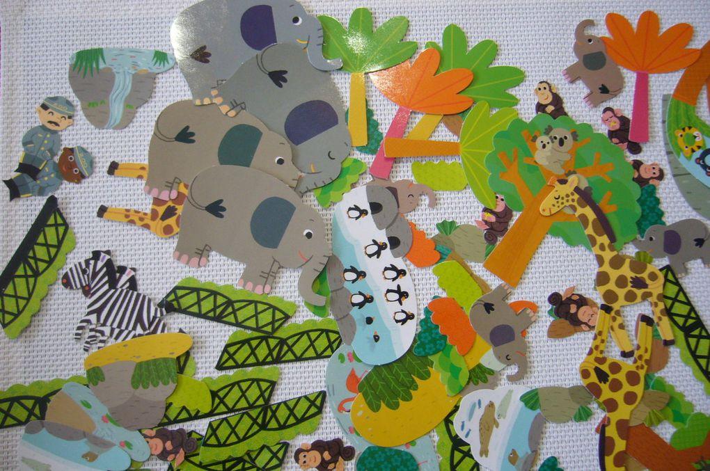 Mon petit monde à créer en gommettes - Le Zoo et les Bateaux de pirates - Activité manuelle avec les Editions Lito