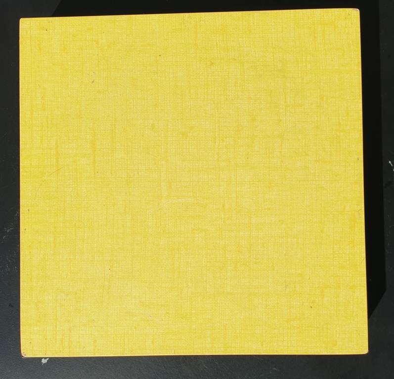 Dessous de plat Formica jaune vintage 1960 - 9 euros
