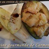 Avocat au crottin de chèvre - Cuisine gourmande de Carmencita