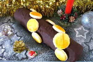 Bûche de Noël Petits-Beurre & Chocolat