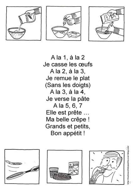 """.. Chandeleur .. """" poêle a crêpe et comptine recette des crêpes """""""