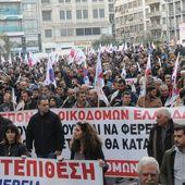 GRÈCE : contre l'atteinte au droit de grève, des syndicalistes occupent le ministère du travail