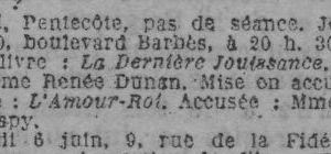 Brève : programme Club du Faubourg (juin 1925)